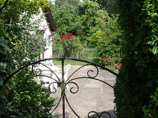 Through the gate to your oasis of calm and tranquility, a short walk from the car parking.