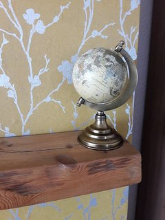 our little globe of the world , is your pin going to be put on Porthcawl , we have been there !!!!
