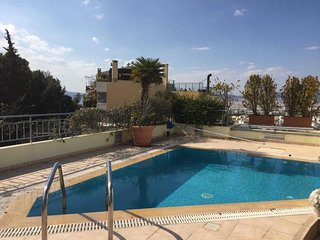 Apartment 1.1 km from the center of Athens with Internet, Pool, Air conditioning