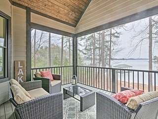 Seneca Home w/Porch & Private Dock on Lake Keowee!