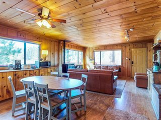 Dog-friendly mountainview cabin with free WiFi - secluded with room to roam!