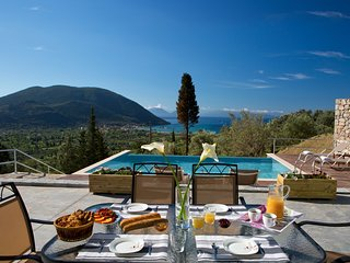 Villa with private pool & stunning sea view near Vasiliki