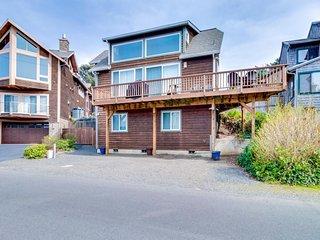 Dog-friendly home w/ hot tub & ocean view - walk to beach/town (MCA #1485)