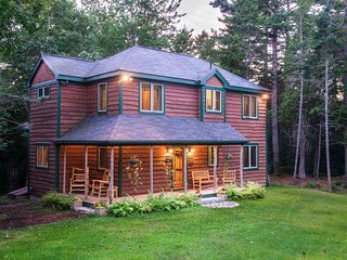 Unique Nature Inspired Home Nestled in Woods next to Acadia 's Largest Lake