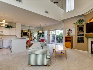 Beautiful two story 2 bedroom 2.5 bathroom Las Vegas home. High ceilings and an