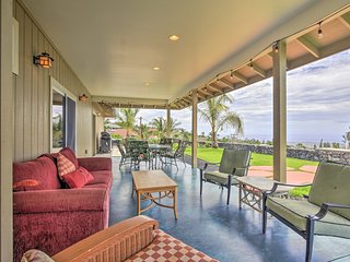 Kailua-Kona Home w/View, Mins From Coffee Country!