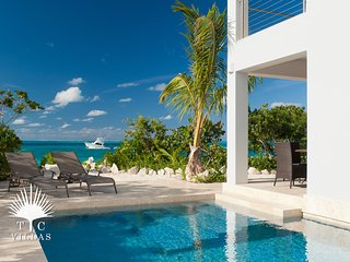 Water Edge Villa on Grace Bay Beach, a romantic escape to Turks and Caicos