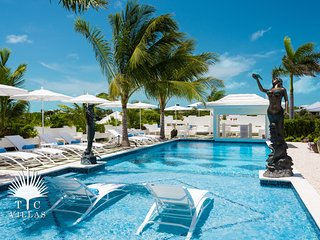 Brand new 6br beachfront villa with private tennis court and boat dock