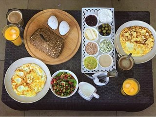 israeli breakfast can be ordered by request.