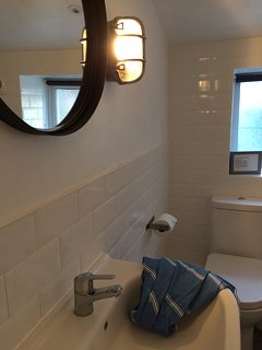 industrial style bathroom newly fitted