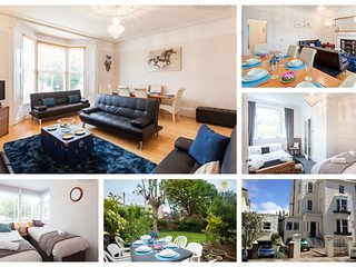 Albany Villas Apartment, GARDEN & PARKING for 1 Car, nr beach, sea! Sleeps 9
