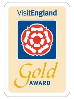 A wonderful result for all our hard work. VisitEngland's Gold Award 2017/18