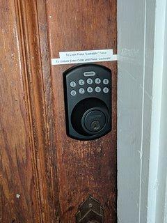 Front door electronic lock