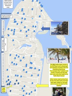 Gulf beach access map: we are just 50 yds from the ONLY public access to the Gulf beach (w. parking)