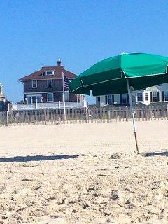 A spot on beautiful Jefferson Street Beach waiting for you!
