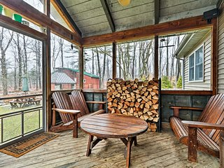 Blakeslee Forest Retreat w/ Fire Pit & Deck!