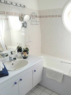 Ensuite bathroom with separate private toilet opposite