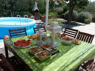 Bellavista appartamento in villa con ampia terrazza , giardino e piscina