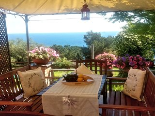 Stella Azzurra:  Four apartments facing the Ligurian sea, with garden and pool
