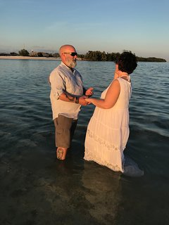 Sunset wedding performed by our very own Captain Jeff!