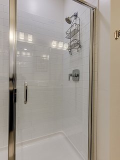 The master bath also has a walk in shower.