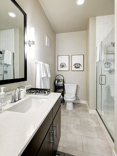 Spacious master bathroom.