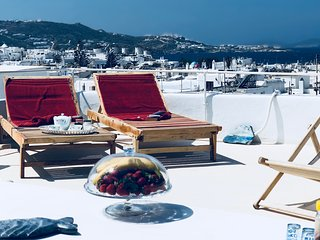 Mykonos Town Panorama with Private Terrace