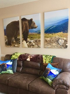 Bear Picture above Sofa