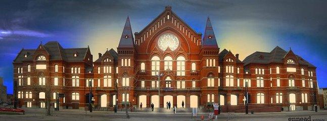 Beautiful Music Hall in Cincinnati, OH. On the streetcar line.