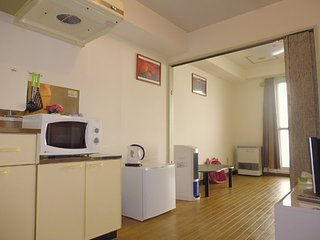 0.Cozy 1LDK for 2~3 +Free WIFI & Parking (Entire Apartment)