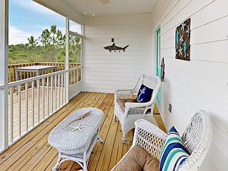 Stylish New Cottage w/ Sunroom & Pool - Near Beach, Bay & Wildlife Preserve