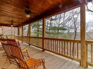 Dog-friendly retreat w/ private hot tub, fenced yard, deck, & game room!