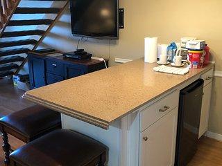 New cabinets and mini-fridge