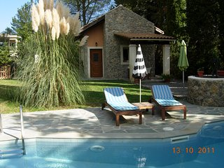 Petrinos Cottage with private pool in Dassia 200m from the beach.