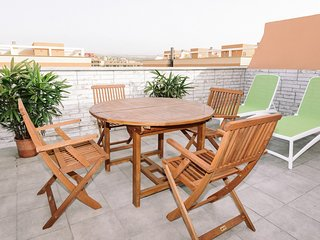 Duplex with roof terrace, pool and parking