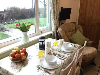 Enjoy views of the beautiful Derbyshire countryside from the dining table.