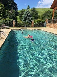 Plenty of play and swim space.