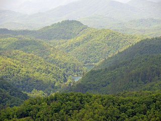 Amazing view  of the Great Smokey Mountains and Fontana Lake. View from the deck & living room