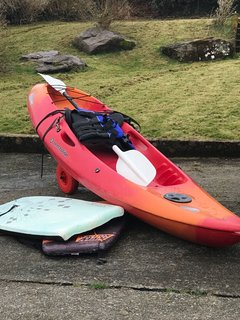 Free use of Kayak, life jacket and boogie boards with prior request