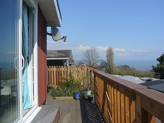 Chalet with sea views near the beach in Shaldon, Devon