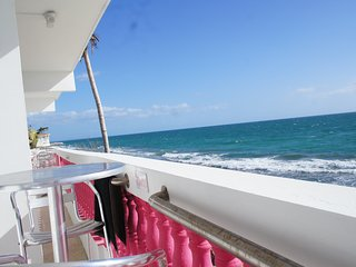 Oceanfront 4 Bedroom Second Level Villa in Rincon with Ocean and Sunset Views