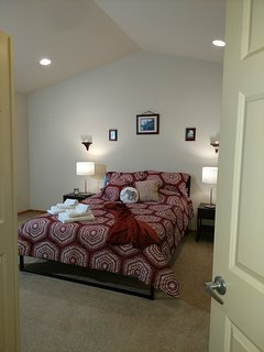 Large Master bedroom thru the double doors!