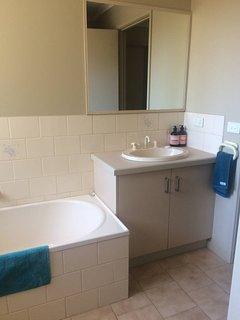 Bathroom, Sheridan towels, toiletries, hair dryer & straightener, full length mirror, seperate bath.