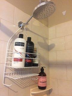 Sheridan towels, toiletries, hair dryer & straightener, full length mirror, seperate shower, toilet.