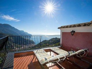 Villa with breathtaking sea view in Ravello, Amalfi Coast.