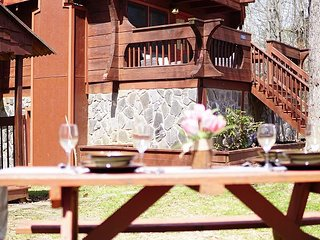 4BR Cabin w/ Private Hot Tub, Fireplace, 2 Game Rooms & Pool Access