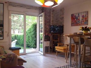 Appartement-jardin, velo, petit dejeuner, Thalasso a 100m.