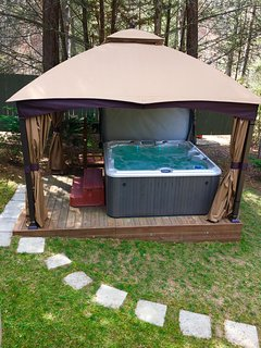 New covered Canopy over Hot tub