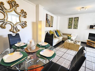 Spacious bright & quiet living/dining room overlooking peaceful inner residential plaza.