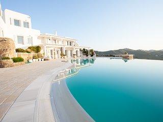 Kalo Livadi Mykonos Cool Villa - Breathtaking Sea Views !